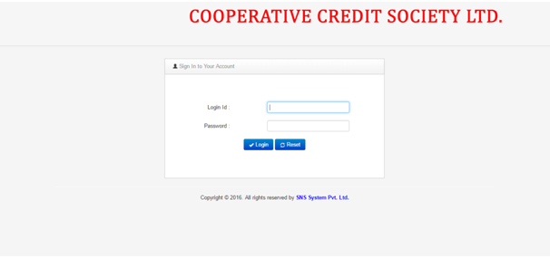 Cooperative Society Login
